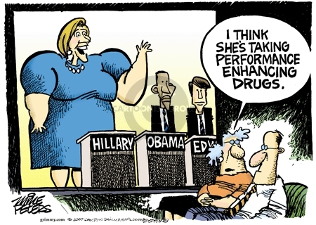 Cartoonist Mike Peters  Mike Peters' Editorial Cartoons 2007-08-08 election
