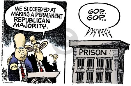 Cartoonist Mike Peters  Mike Peters' Editorial Cartoons 2007-08-13 republican president
