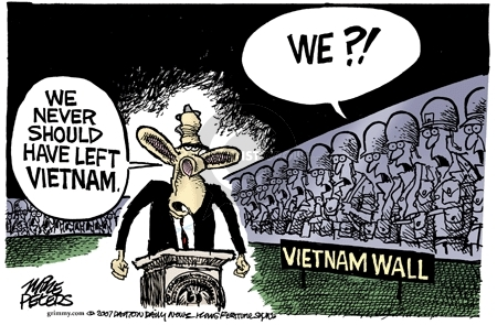 Mike Peters  Mike Peters' Editorial Cartoons 2007-08-22 Iraq military