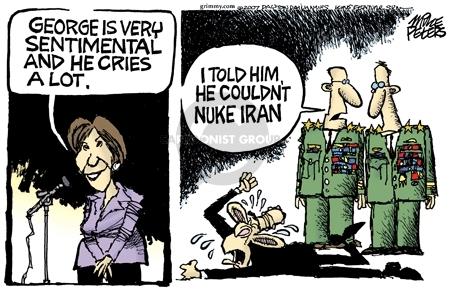 Cartoonist Mike Peters  Mike Peters' Editorial Cartoons 2007-09-06 nuke