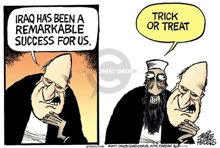 Cartoonist Mike Peters  Mike Peters' Editorial Cartoons 2007-10-19 terrorist