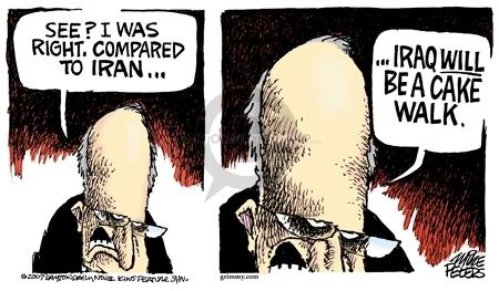 Cartoonist Mike Peters  Mike Peters' Editorial Cartoons 2007-10-23 Dick Cheney