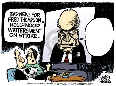Cartoonist Mike Peters  Mike Peters' Editorial Cartoons 2007-11-02 Hollywood