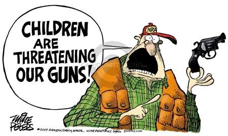 Cartoonist Mike Peters  Mike Peters' Editorial Cartoons 2007-11-15 gun rights