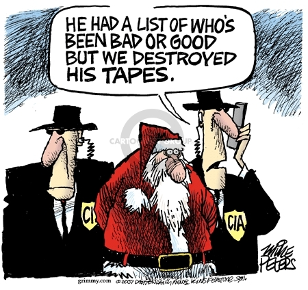 Cartoonist Mike Peters  Mike Peters' Editorial Cartoons 2007-12-08 CIA