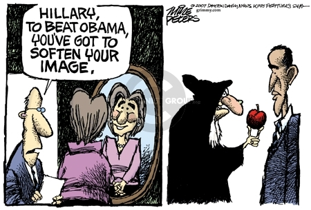Cartoonist Mike Peters  Mike Peters' Editorial Cartoons 2007-12-21 election