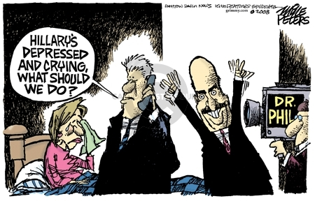 Cartoonist Mike Peters  Mike Peters' Editorial Cartoons 2008-01-08 election