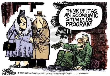 Cartoonist Mike Peters  Mike Peters' Editorial Cartoons 2008-01-18 stimulus