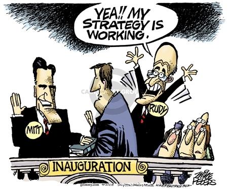 Cartoonist Mike Peters  Mike Peters' Editorial Cartoons 2008-01-25 Rudy Giuliani