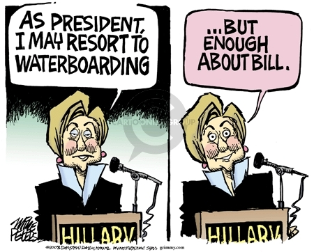 Cartoonist Mike Peters  Mike Peters' Editorial Cartoons 2008-01-31 Bill Clinton