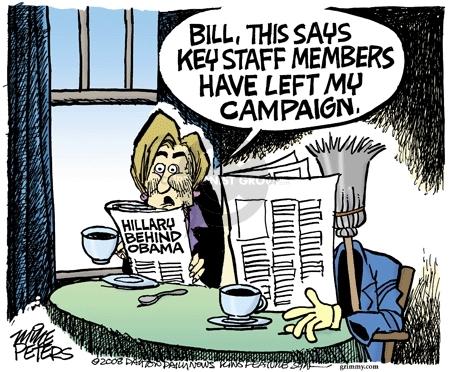 Cartoonist Mike Peters  Mike Peters' Editorial Cartoons 2008-02-14 Bill Clinton