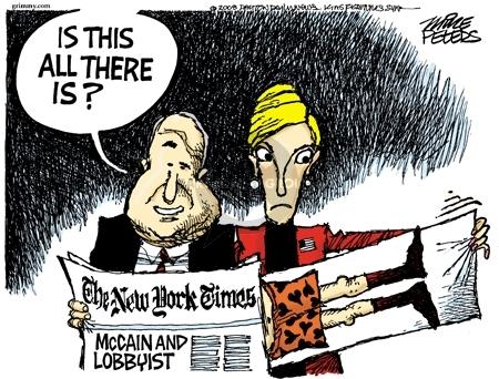 Cartoonist Mike Peters  Mike Peters' Editorial Cartoons 2008-02-21 political lobby