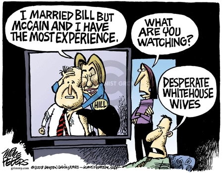Cartoonist Mike Peters  Mike Peters' Editorial Cartoons 2008-03-07 Bill Clinton