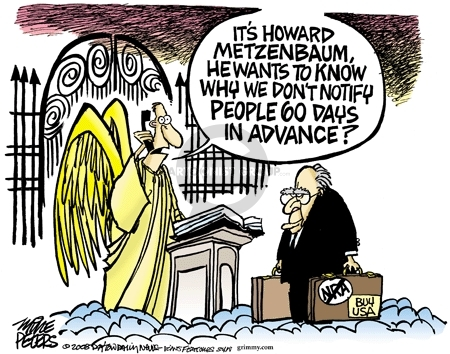 Its Howard Metzenbaum.  He want to know we dont notify people 60 days in advance?  (No) NRA.  Buy USA.
