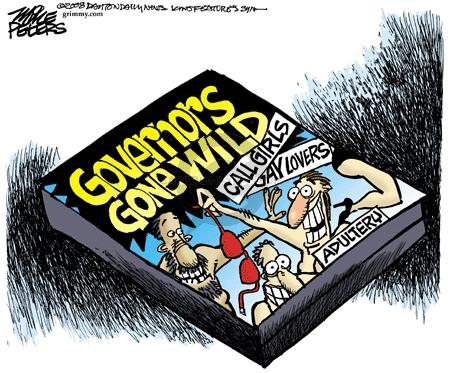 Cartoonist Mike Peters  Mike Peters' Editorial Cartoons 2008-03-19 gubernatorial