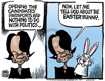 Cartoonist Mike Peters  Mike Peters' Editorial Cartoons 2008-03-24 bunny