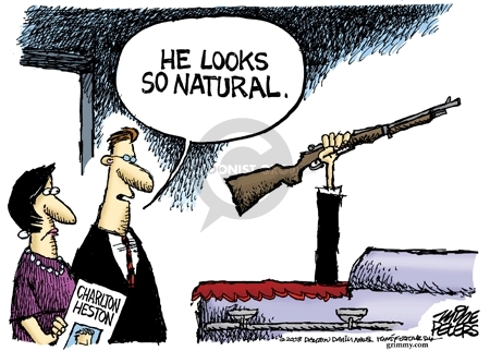 Cartoonist Mike Peters  Mike Peters' Editorial Cartoons 2008-04-07 national