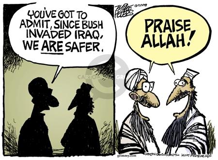 Cartoonist Mike Peters  Mike Peters' Editorial Cartoons 2008-04-08 terrorist