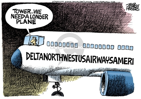 Cartoonist Mike Peters  Mike Peters' Editorial Cartoons 2008-04-16 airline