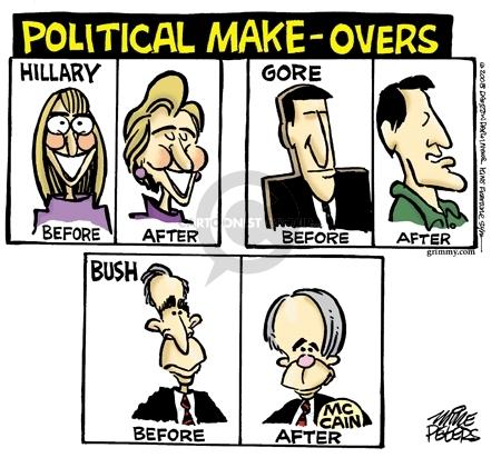 Cartoonist Mike Peters  Mike Peters' Editorial Cartoons 2008-04-23 republican president