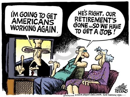 Cartoonist Mike Peters  Mike Peters' Editorial Cartoons 2008-04-30 retirement