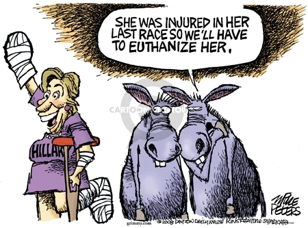 Hillary.  She was injured in her last race so well have to euthanize her.