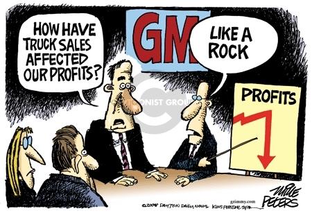 Mike Peters  Mike Peters' Editorial Cartoons 2008-06-03 car sales