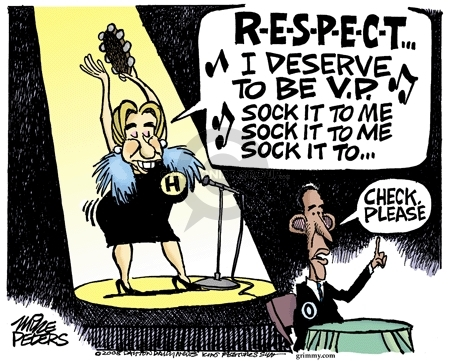 Cartoonist Mike Peters  Mike Peters' Editorial Cartoons 2008-06-05 election