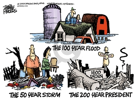 Cartoonist Mike Peters  Mike Peters' Editorial Cartoons 2008-06-18 Hurricane Katrina