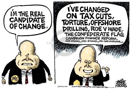 Cartoonist Mike Peters  Mike Peters' Editorial Cartoons 2008-06-20 election