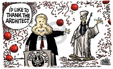 Cartoonist Mike Peters  Mike Peters' Editorial Cartoons 2008-06-24 election