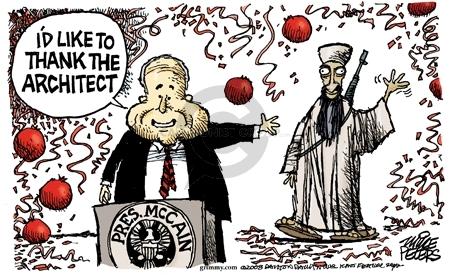 Cartoonist Mike Peters  Mike Peters' Editorial Cartoons 2008-06-24 terrorist
