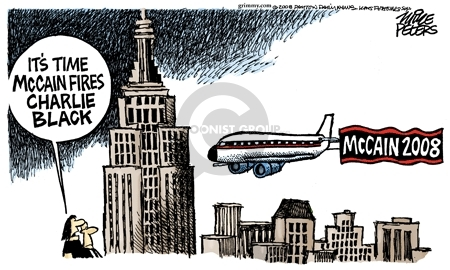 Cartoonist Mike Peters  Mike Peters' Editorial Cartoons 2008-06-25 election