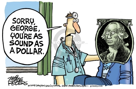 Mike Peters  Mike Peters' Editorial Cartoons 2008-07-04 George Washington