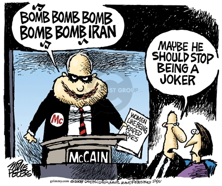 Mike Peters  Mike Peters' Editorial Cartoons 2008-07-18 Iranian election