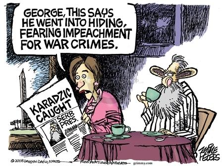 Cartoonist Mike Peters  Mike Peters' Editorial Cartoons 2008-07-25 war crime