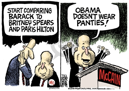 Cartoonist Mike Peters  Mike Peters' Editorial Cartoons 2008-07-31 election
