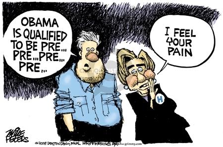 Cartoonist Mike Peters  Mike Peters' Editorial Cartoons 2008-08-08 Bill Clinton