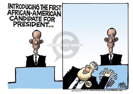 Cartoonist Mike Peters  Mike Peters' Editorial Cartoons 2008-08-26 Bill Clinton