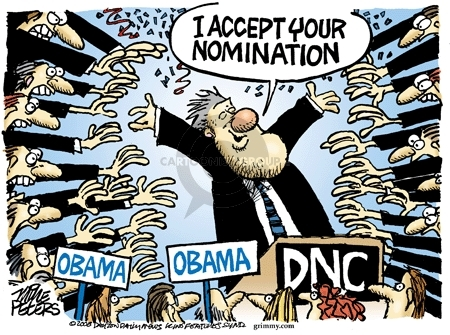 Cartoonist Mike Peters  Mike Peters' Editorial Cartoons 2008-08-28 Bill Clinton