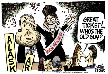Cartoonist Mike Peters  Mike Peters' Editorial Cartoons 2008-09-03 republican convention