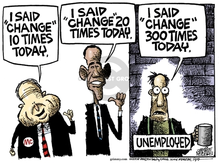 Cartoonist Mike Peters  Mike Peters' Editorial Cartoons 2008-09-05 unemployment