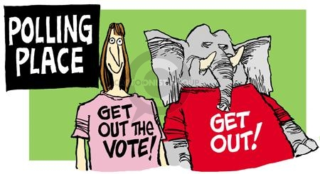 Mike Peters  Mike Peters' Editorial Cartoons 2004-11-05 voting rights