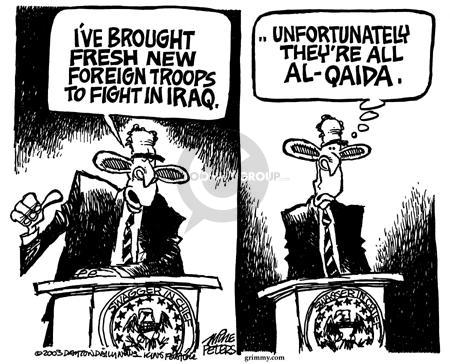 Cartoonist Mike Peters  Mike Peters' Editorial Cartoons 2003-11-08 terrorist