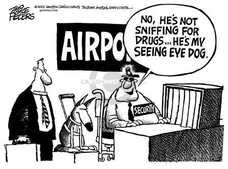 Cartoonist Mike Peters  Mike Peters' Editorial Cartoons 2001-11-09 airline travel