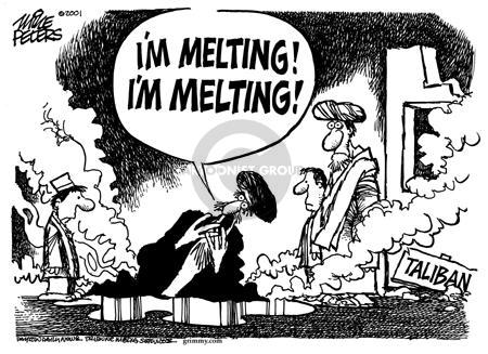 Cartoonist Mike Peters  Mike Peters' Editorial Cartoons 2001-11-15 terrorist