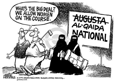 Cartoonist Mike Peters  Mike Peters' Editorial Cartoons 2002-11-16 terrorist