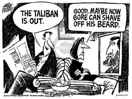 Cartoonist Mike Peters  Mike Peters' Editorial Cartoons 2001-11-17 Afghanistan