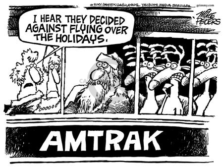 Cartoonist Mike Peters  Mike Peters' Editorial Cartoons 2001-11-22 transportation