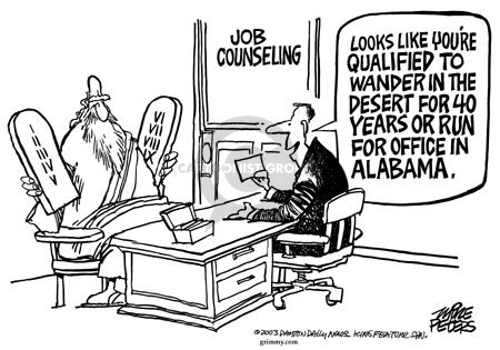 Cartoonist Mike Peters  Mike Peters' Editorial Cartoons 2003-11-22 qualification